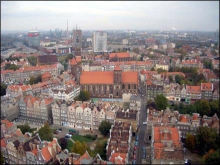 Blick aus der Marienkirche auf die Altstadt - Altstadt Danzig/Gdansk