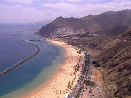 Der goldgelbe Sandstrand - Strand Las Teresitas