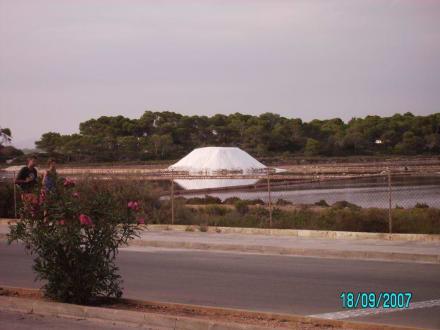 einer der Salzhügel - Salinas d'Es Trenc