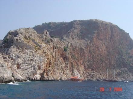 Blick vom Meer - Strand Alanya