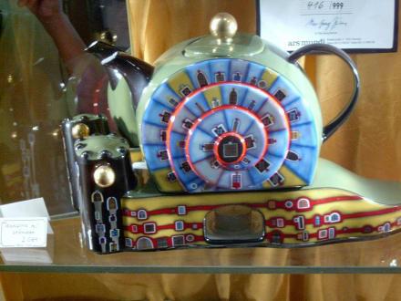 Hundertwasser Teekanne - Hundertwasserhaus Wien
