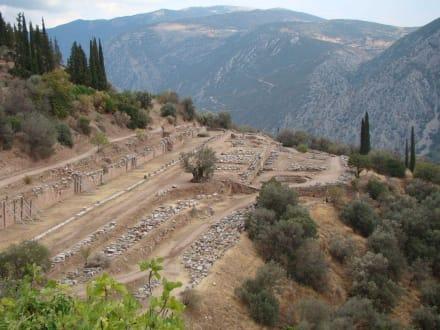 Die Reste des Gymnasions - Tempelanlage des Orakels von Delphi