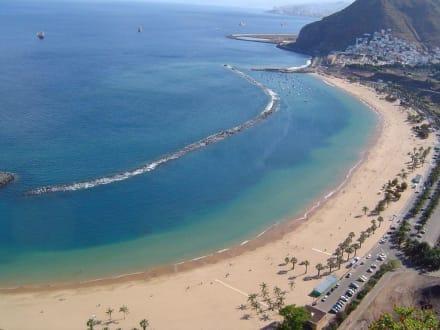 Bick auf den Teresitas Strand - Strand Las Teresitas