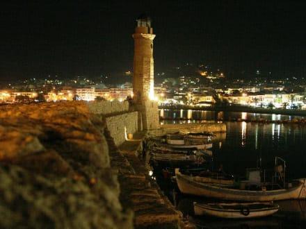 Venezianischer Hafen bei Nacht - Hafen Rethymno