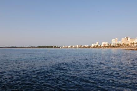 Von Cala Bona aus - Strand Cala Bona