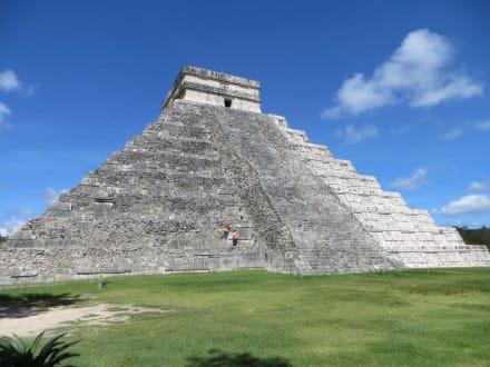 Spaziergang auf dem Ruinengelände - Ruine Chichén Itzá