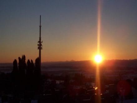 Sonnenaufgang auf dem Hohen Peissenberg im Pfaffenwinkel - Hoher Peißenberg