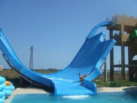 blaue Todesrutsche - Aquapark Nessebar