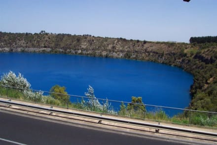 Blick auf den Blue Lake, Mt. Gambier - Blue Lake