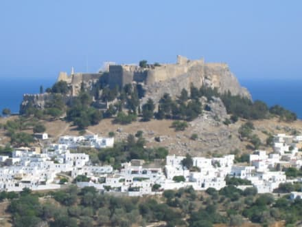 Aussicht auf Lindos - Akropolis von Lindos