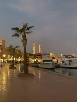 Marina at Night - Hurghada Marina Boulevard