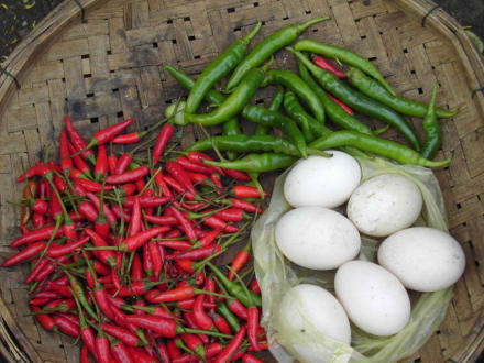 Gemüse grün-weiß-rot - Markt