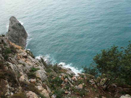 Ausblick vom berühmten Festungsberg in Alanya - Burg von Alanya  (Ic Kale)