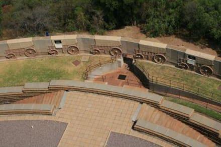 Blick von oben in den Park - Voortrekker Monument
