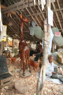 Holz Giraffe - Schnitzerdorf Akamba