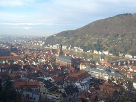 Blick vom Schloss auf Heidelberg - Schloss Heidelberg