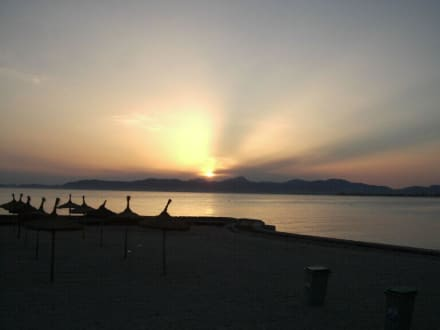 Sonnenuntergang Playa del Palma - Strand El Arenal/S'Arenal