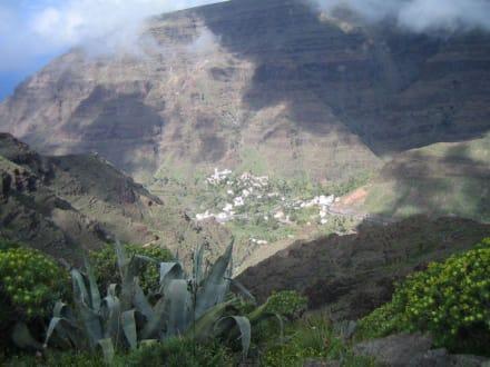 Blick ins Valle Gran Rey - Landschaft im Valle Gran Rey
