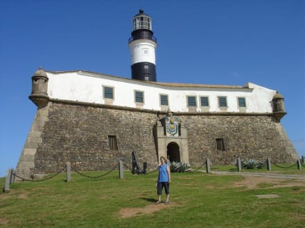 Fort mit Leuchtturm in Salvador da Bahia - Leuchtturm & Museum Farrol da Barra