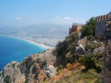 Strand von Alanya - Burg von Alanya  (Ic Kale)