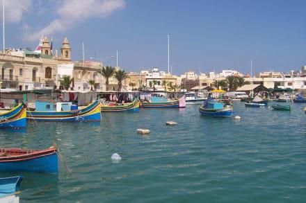 Hafen von Marsaxlokk im Osten der Insel - Hafen Marsaxlokk