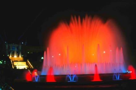 nächtliche Wassershow - Palau Nacional - Font Magica