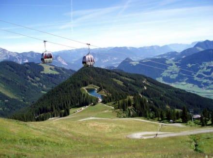 Spieljochbahn mit Bergsee - Spieljoch Bahn