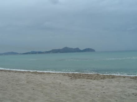 Strand Can Picafort, Richtung Alcudia - Strand Can Picafort