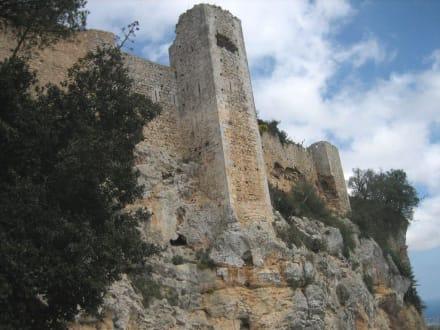 Castell de Santueri - vom Parkplatz aus gesehen - Castell de Santueri