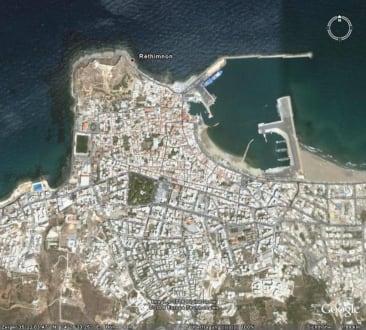 Retymnon aus der Luft gesehen - Altstadt Rethymno