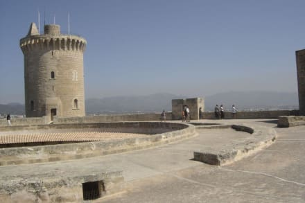 Das Schloss von oben - Schloss Bellver