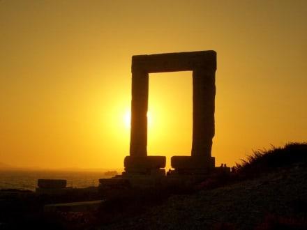 Sonnenuntergang auf Naxos - Tempel des Apollonas - Portara Naxos