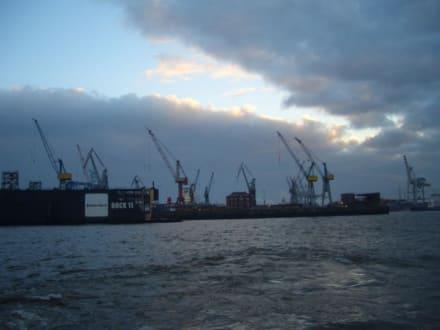 Abendstimmung am Hamburger Hafen - Hafen Hamburg