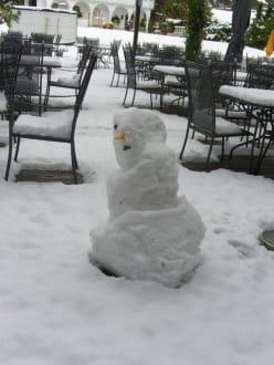 Schneefall innerhalb einer Nacht - Hotel Krallerhof
