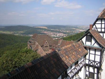 Der Blick auf das Hotel und - Wartburg