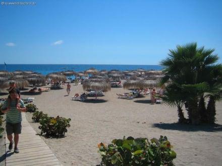 Strand 400 m vom Hotel entfernt - Strand Playa de Fanabe
