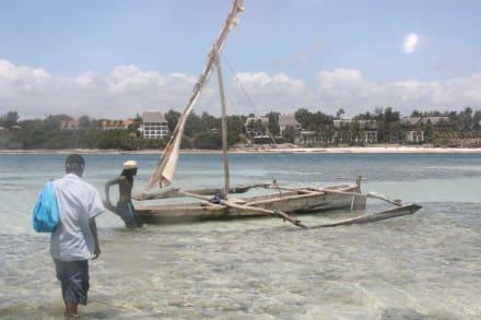 So kommt man zum Riff - Mombasa Marine Park