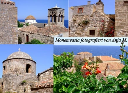 Felssteinhäuser, Glockentürme und Kirchen - Altstadt Monemvasia