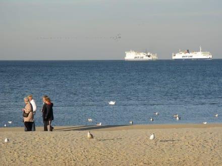 Am Strand von Swinemünde. - Strand Swinemünde/Swinoujscie