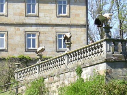 Drei Geier sitzen zusammen - Schlosspark Tambach