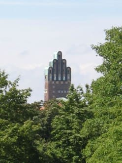 Park Rosenhöhe Sicht auf Mathildenhöhe 1 - Rosenhöhe Park