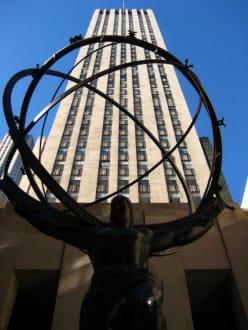 Rockefeller Center - Atlas Statue am Rockefeller Center