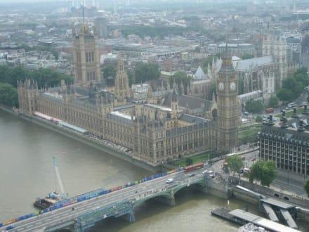 Blick vom London Eye auf Big Ben - London Eye