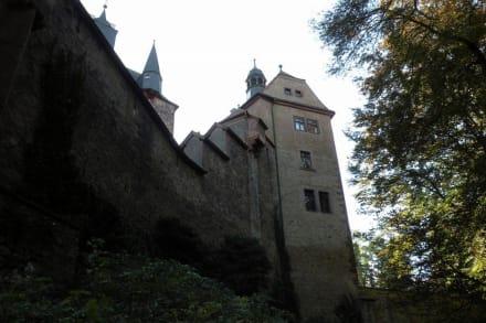 Außenansich von der Straße - Burg Kriebstein