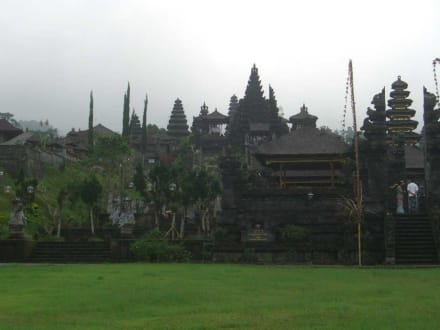 Vorderansicht des Tempels - Muttertempel Pura Besakih - Pasar Agung