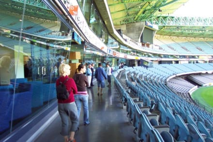 Vorbei an den VIP Lounges - Telstra Dome