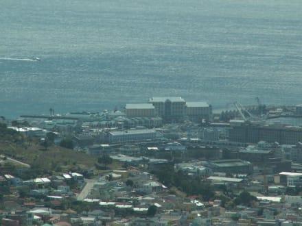 Blick vom Tafelberg auf die Waterfront - Alfred & Victoria Waterfront