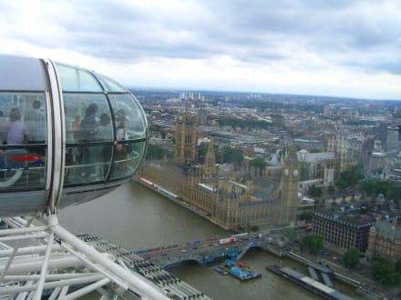 London Eye - atemberaubender Blick über London - London Eye
