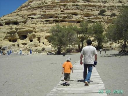 Felswohnungen in Matala - Höhlen von Matala