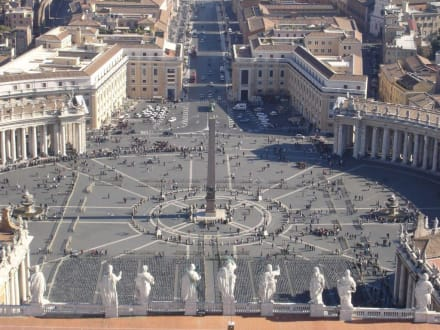 Blick von der Kuppel Petersdom - Petersplatz